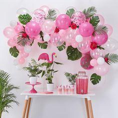 Pink Flamingo Party, Flamingo Birthday, Luau Birthday, Pink Flamingos, Birthday Parties, Flamingo Party Supplies, Flamingo Decor, Luau Theme Party, Hawaiian Party Decorations