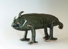 Made to order Large Handbuit Ceramic Chameleon by midoritakaki, £100.00