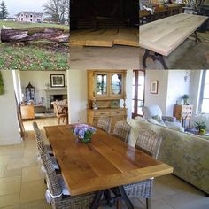 This is a flashback to a table we made a few years ago. Our client had an Oregon White Oak tree that had fallen in a storm. She wanted a table that would have been found in an old farmhouse in France. More pictures to come. #rte5reclamation #custommade #whiteoak #madeinoregon #rustic #farmhouse #farmhousetable http://bit.ly/Rte5Shop http://ift.tt/2lVOvbL