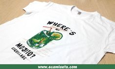 Camisetas promocionales. Camisetas publicitarias. Camisetas mojito. Mojito. Camisetas  serigrafiadas. Serigrafia digital. Camisetas serigrafia digital. bbbb425e56e48