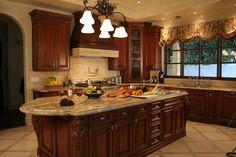 Idea for color of granite countertop for my cherry kitchen