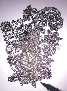 Mendhi inspired design by Myro Doodles