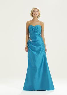 Jessi ~ Romantica Bridesmaids 2015 turkish blue, see taffeta colourways, zip back