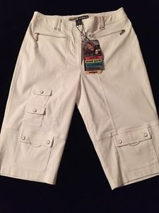 Jamie Sadock Sugar Pure White Stretch Shorts Women's Size 6 New $115   eBay