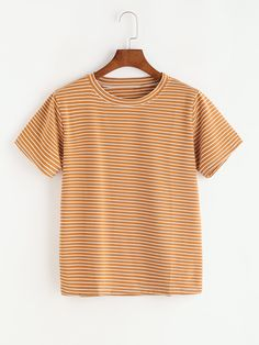 3f0d0accaa8b Shop Striped Tee online. SheIn offers Striped Tee   more to fit your  fashionable needs