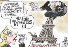 Paris Climate Summit, Pat Bagley,Salt Lake Tribune,Paris,Climate,Summit,Planet,Global Warming,Warming,Obama,Eiffel Tower,Climate Change,Hollande,World,Carbon,Oil,Gas,Coal,Fossil,Fuel,Fossil Fuel,Sequestration,Exxon,BP