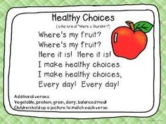 cute songs and chants for nutrition: