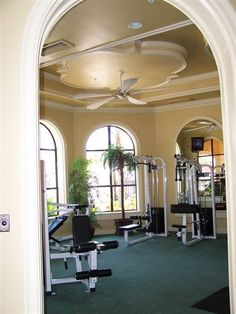 I don't know if you will like this Jasmine but I would love to work out in a room like this.