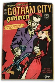 The Joker and Harley Quinn pulp fiction novel Batman Comics, Dc Comics, Comic Book Characters, Comic Books, Fiction Novels, Pulp Fiction, Joker Art, Bonnie N Clyde, Joker And Harley Quinn