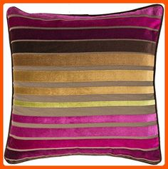 """Surya JS-020 Hand Crafted 60% Viscose / 40% Cotton Fuschia 22"""" x 22"""" Striped Decorative Pillow - Improve your home (*Amazon Partner-Link)"""