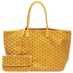 Buy your saint-louis leather tote Goyard on Vestiaire Collective, the luxury consignment store online. Pre-owned Yellow Saint-louis leather tote Goyard in Cloth available. Goyard Saint Louis, St Louis, Goyard Handbags, Love Express, Yellow Coat, Cowhide Leather, Luxury Consignment, Satchel, Pouch