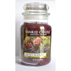 Bougie parfumée Grande Jarre LUSH BERRIES Yankee Candle large jar exclu US USA