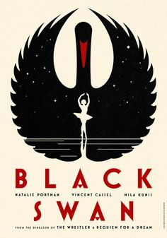Black Swan - La Boca    The simplicity is so significant yet it is so styled and graceful.  I love this poster!  http://site.laboca.co.uk/Black-Swan