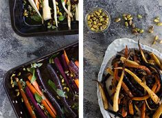 maple roasted carrots & parsnips with sage, pistachios and cranberries