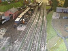 country goods shed and siding, aspire gifts and models shop model railway layout, model trains, model railways