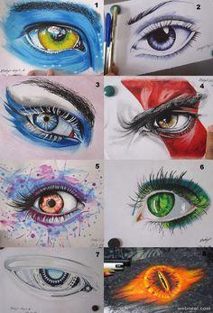 drawing of eye mariosilva