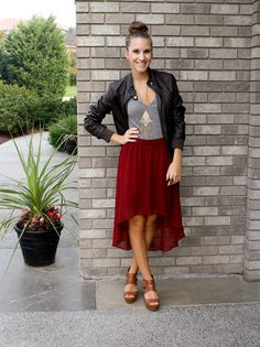 Oxblood Hi-lo and a Top Knot:Twenties Girl Style