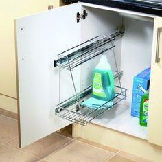 Wickes 2 Tier Wire Sink Storage Chrome 300mm