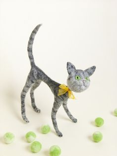 Needle Felted Animals - Cat