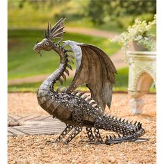 LED-Lighted Steampunk Dragon awww  it would be cool to have two standing guard at the front door of my future house