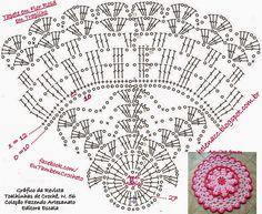EU TAMBÉM CROCHETO...: Tapete em Flor Rosa de Trapilho