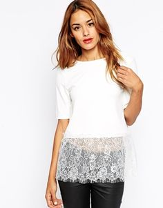gorgeous! {ASOS Top with Lace Panel - under $55}