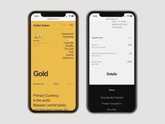 Golden Suisse designed by Alexander Laguta for Laguta & Laguta. Connect with them on Dribbble; Gfx Design, App Ui Design, User Interface Design, Layout Design, Flat Design, Website Design Inspiration, Mobile Ux, Mobile Responsive, Design Thinking