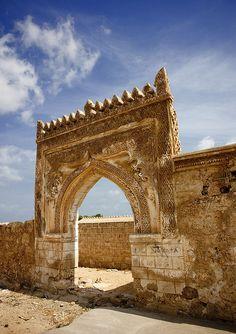 Stucco decoration in a Farasan island old ottoman house