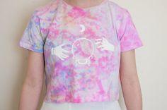 Tie Dye Crystal Ball Crop Top