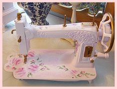 THIS WOULD BE NICE FOR A TREADLE SEWING MACHINE AND THEN REFURBISH THE TREADLE CABINET WHITE