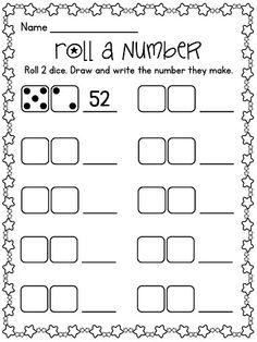 Roll A Number center - great for number sense!! Simply roll 2 dice and draw / write the number they make