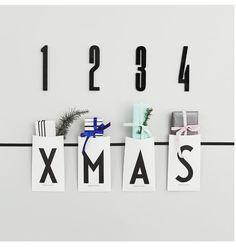 Arne Jacobsen designletters adventsidé