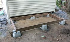How To Build a Shed Floor [Step-by-Step Guide] Diy Storage Shed, Diy Shed, Outdoor Storage, Backyard Sheds, Outdoor Sheds, Backyard Buildings, Outdoor Spaces, Shed Base, Cheap Sheds