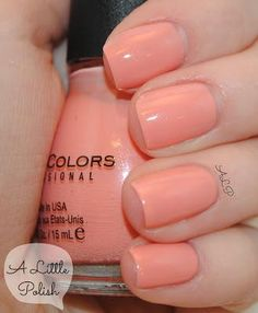 A Little Polish Sinful Colors Orange Cream Lin S Lacquer Rainbow Colored Nails. A Little Polish Sinful Colors Orange Cream. Nails Only, Love Nails, How To Do Nails, Pretty Nails, Sinful Colors Nail Polish, Neutral Nail Polish, Nail Colors, Gel Polish, Color Nails
