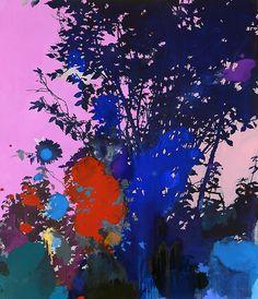 'Pink Evening', 2014 - Henrik Simonsen (b. 1974)oil and graphite on canvas http://www.henriksimonsen.com/gallery/image.asp?image=147