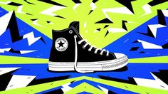 We teamed up with Blacklist and Complex Original to create a series of animations and gifs for Converse's launch of the new Chuck II Shield Canvas. Our task was to show off the extreme durability of the new shoes in our own unique way. The result is an eye-poppingly bright, stylised world bounding with energy.