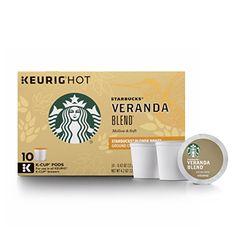 Starbucks Veranda Blend Blonde KCup Portion Pack for Keurig KCup Brewers 10Count * Visit the image link more details.