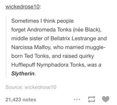 Awesome andromeda is really cool and it's not even surprising Slytherin is super underrated so is hufflepuff