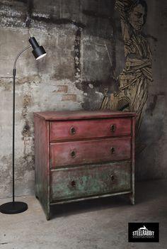 Steel Rabbit - Industrial Old Paint Commode . Annie Sloan + dark wax