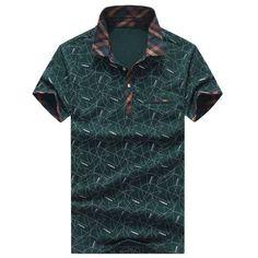 Men POLO Shirt Fashion Print Camisa Polo Summer