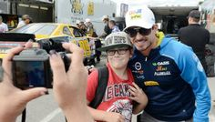 """School visits across Canada throughout the NASCAR Canadian Tire Series season are part of Alex Tagliani's """"Summer of Tag"""" program with the goal of heightening the awareness of food allergies. Canadian Tire, Food Allergies, Nascar, Goal, Product Launch, Canada, Tours, Seasons, Running"""