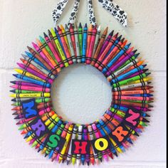 Classroom door wreath!