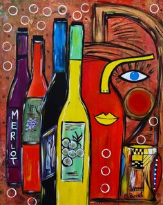 """Eyes Wine"" painting, acrylic by Maggie Bernet Framed Wall Art, Wall Art Prints, Blue Eyes Pop, Wine Painting, Eye Sketch, Wine Art, Saatchi Online, Buy Prints, Art World"