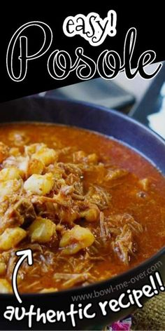 Want authentic Mexican flavor? This recipe for posole is truly perfection in a spoon. It is deliciously savory and flavorful. Truly fabulous and easy enough for anyone to make! #posole #pozole #mexicanstew #bowlmeover #howtomake #dinnerideasfortonight