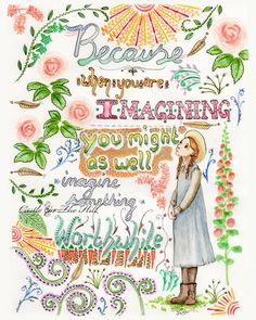 Anne Of Green Gables quote 8 x 10 print