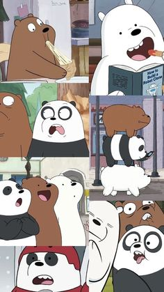 we bare bears wallpaper Cute Disney Wallpaper, Kawaii Wallpaper, Cute Wallpaper Backgrounds, Aesthetic Iphone Wallpaper, We Bare Bears Wallpapers, Panda Wallpapers, Cute Cartoon Wallpapers, Ice Bear We Bare Bears, We Bear