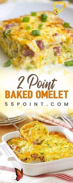 Baked Omelet Baked Omelet (Weight Watchers) #casserole #recipe #weight_watchers #freestyle_points #foodrecipe #lowcarb #slimmingworld<br> Advertisements Baked breakfasts like this are a great idea for when you want something hearty but don't want a ton of cleanup. I love using a cast iron skillet, but you could even make this in a casserole dish. Whatever is your preference can work for this baked omelet recipe. Advertisements Ingredients 3 large eggs + three […] Petit Déjeuner Weight Watcher, Plats Weight Watchers, Weight Watchers Diet, Weight Watcher Dinners, Weight Watchers Recipes, Weight Watchers Lunches, Weigh Watchers, Weight Watchers Smart Points, Weight Watcher Vegetable Recipes