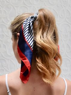 French Stripe Stripe Hair Scarf