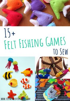DIY Magnetic Fishing Games {Links With Love} - Felt With Love Designs - Toys to sew - DIY Magnetic Fishing Games {Links With Love} – Felt With Love Designs DIY Felt Magnetic Fishing Games to Sew – Felt With Love Designs Sewing Patterns For Kids, Sewing Projects For Kids, Felt Patterns, Sewing For Kids, Diy For Kids, Loom Patterns, Diy Handmade Toys, Handmade Felt, Fishing Games For Kids