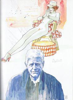 Milo Manara - Vol. 20, Il Pittore e la Modella-111 (Hugo Pratt, Le ragazze nella penombra)